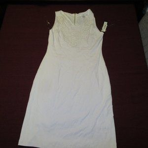 Peter Nygard White Embellished Dress Sz 10 NWT